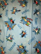 "30""x44"" CHARLIE BROWN SNOOPY PEANUTS COTTON FABRIC REMNANT"