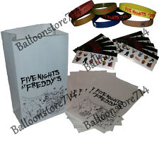 Five Nights at Freddy's Favors - 10 FNAF Bracelets, 10 Bags, 10 Sticker Sheets