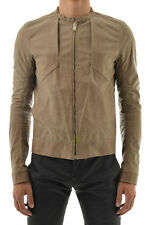 RICK OWENS Leather MOTO Jacket Size 50 IT 40 US Medium Panels Hand Distressed