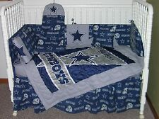 CRIB BEDDING NURSERY SET MADE WITH DALLAS COWBOYS FABRIC