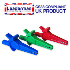 Ldm112 blue/red/green Cocodrilo Clips Para Fluke 4mm Puntas De Prueba