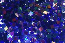 Mini Cobalt Blue Iridescent Stained Glass Mosaic Tiles