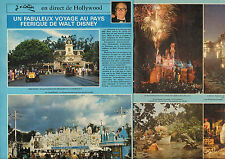 COUPURE de presse PHOTO CLIPPING  WALT DISNEY  ( Reportage 4 pages)