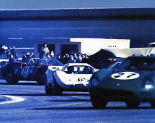 Vintage 8 X 10 1966 Daytona 24 Hours Chaparral 2D, Ferrari 365P2/3 & 250 LM