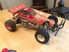 Vintage Tamiya Frog 1/10th scale RC race car w/ body
