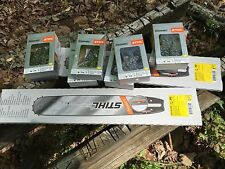 1 New Stihl  ES Pro Chainsaw Bar Plus 6 RSF 20 In 72 Link Skip Chains  Yellow