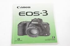 CANON EOS-3 Instructions 146 pages 16x12cm + Accessories + Custom Function Guide