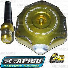 Apico Gold Alloy Fuel Cap Breather Pipe For Suzuki RM 125 2002 Motocross Enduro