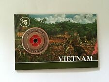 *NEW 2015** Vietnam 2015 Remembrance Day Penny Poppy Coin On Card* Remembrance D