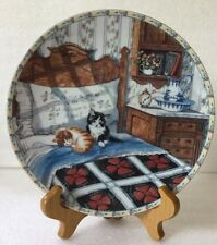 1992 Knowles Hannah Hollister Ingmire SLEEPYHEADS Cats Porcelain Plate #1