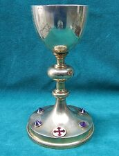 Gilt Sterling Silver With Amethyst & Enamel Chalice   MAGNIFICENT