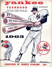 1963 New York Yankees Yearbook, Baseball magazine, World Champions