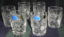 6 Russian Crystal Tumbler Glass 7oz (200 ml).4319..Cocktail, Juice, Soda. NEW