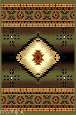 4x6 Area Rug Southwest Southwestern Design Medallion  Southern Lodge Green New