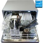 Countertop Stainless Steel Silver Dishwasher, Portable Mini Dish Washing Machine