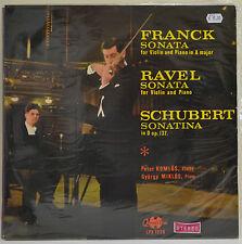 Franck Sonata, Ravel Sonata, Schubert Sonata, 1965, Vinyl LP Record (L3)