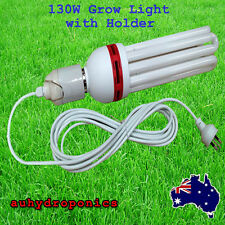130W ENERGY SAVING GROW LIGHT 25000K CFL LAMP With LAMP HOLDER COMPLETE KIT