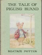 VG Vintage Hardcover Edition with Paste On Beatrix Potter Tale Pigling Bland Pig