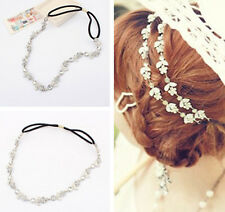 Fashion Elastic Chain Hairband Crystal Metal Hair jewelry for Wedding Bride
