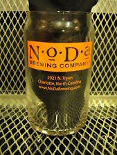 NODA BREWING Co BREWERY Charlotte NC Can Shaped BEER Pint Glass Hop Drop& Roll X