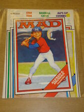 MAD MAGAZINE #318 1988 OCT VF THORPE AND PORTER UK MAGAZINE BASEBALL CARD