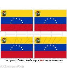 """VENEZUELA Former State Flag (7 star) Venezuelan 50mm (2"""") Stickers, Decals x4"""