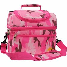 E-MANIS Durable Lunch Bag Insulated Cooler Lunch Box Double Decker Lunch Carry