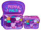"Peppa Pig Pink Backpack 16"" & Lunch bag 2 pc Candy, Suzy, Peppa"
