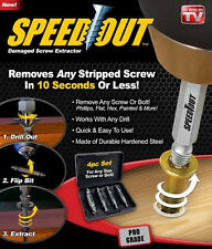 SpeedOut Damaged Screw Extractor&Bolt Extractor 4Pcs Set--Works With Any Drill