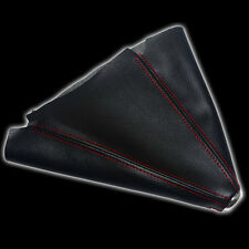 BLACK/RED PVC LEATHER STITCH BOOT MANUAL SHIFT BOOT TRANSMISSION COVER D