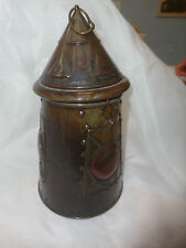 "HUNTLEY AND PALMER BISCUIT TIN LANTERN , 10"" TALL. LATCH AND RING"