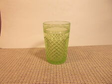 Anchor Hocking Deression Glass Miss America Green Tumbler 4 1/2""