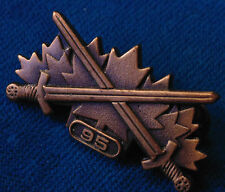Canada Canadian Armed Forces 95 BRONZE WARRIOR badge pin