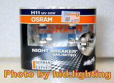 Pair OSRAM H11 Night Breaker Unlimited +110% PLUS Headlight Fog Bulb light lamp