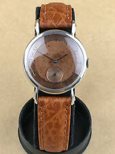 Jaeger LeCoultre Luxury Vintage Gent's Bronze Face 1950s Steel Watch Gorgeous
