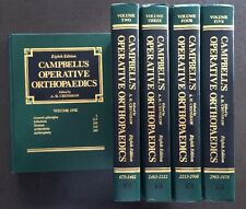 CAMPBELL'S OPERATIVE ORTHOPAEDICS 8 Edition 5 volume set Mosby 1992 Hardcover