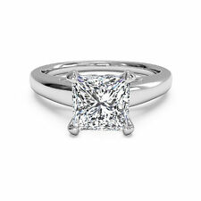 14kt White Gold Rings Ebay Diamond Wedding Engagement Ring 2.00Ct Diamond Rings