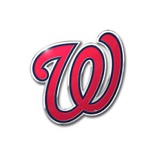 MLB Washington Nationals Car Truck Auto 3-D Aluminum Color Emblem Sticker Decal