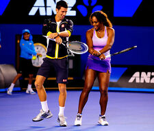 Novak Djokovic and Serena Williams UNSIGNED photo - E106