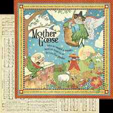 Graphic45 MOTHER GOOSE 12x12 Dbl-Sided Scrapbooking (2pc) Paper
