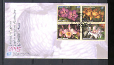 United Nations 2005 ORCHIDS/Flowers 4v blk FDC n14983