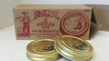 Anchor Hocking Mason Jar Caps1976 New Old Stock Original Box Fisherman One Use