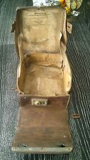 VTG ORIGINAL WW 2 II GERMAN MEDIC DOCTOR BAG POUCH LEATHER WEHRMACHT WAFFEN