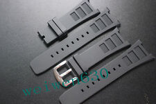 30mm black Fragrance silicone Rubber Strap for IWC INGENIEUR FAMILY IW323601