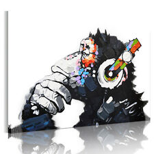 HD Canvas Prints Home Decor Wall Art Painting Picture-DJ MONKEY Chimp Unframed