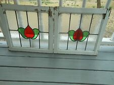 MA9-325 Older Pretty Multi-Color English Leaded Stain Glass Window 2 Available