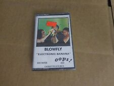 BLOWFLY ELECTRONIC BANANA  FACTORY SEALED CASSETTE ALBUM OOPS RECORDS 1ST PRESS