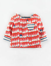 BABY GIRLS EX MINI BODEN REVERSIBLE TOP TSHIRT 0 3 6 12 18 24 2 3 YRS HOUSES FLO