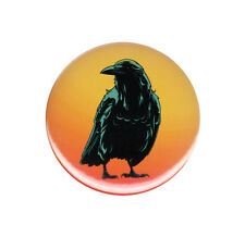 Black Crow Raven Button Badge Pin Fearless Spirit Bird Animal Mystery Magic Luck