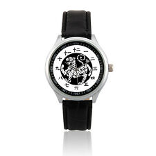 (L473) Japanese Kanji Japan Number System Design Shotokan Karate Do Tiger Watch